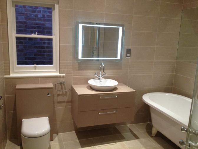 Complete Bathroom renovation completed in Kew