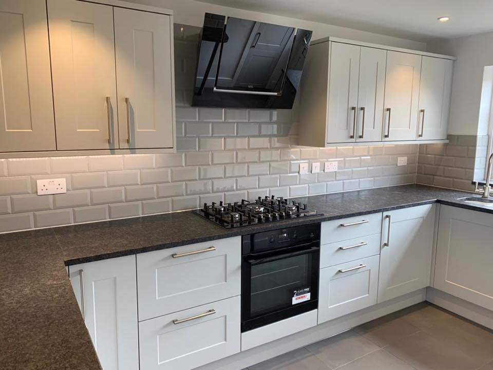 Modern white kitchen renovation