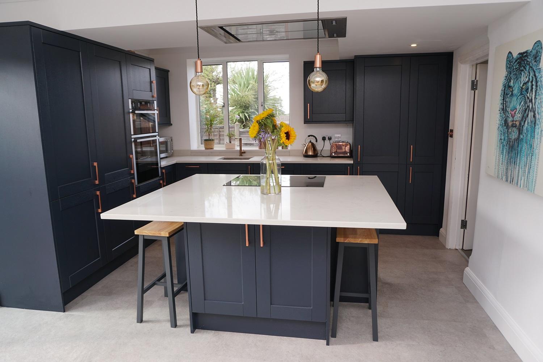 Navy Blue Kitchen Renovation in Guildford